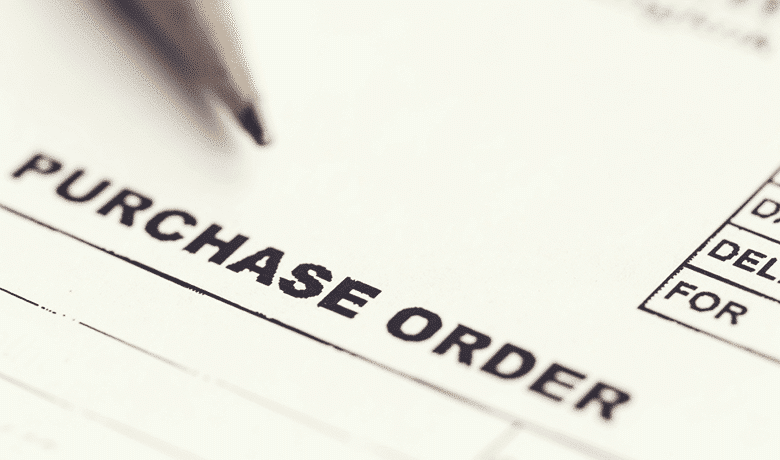 image of purchase order