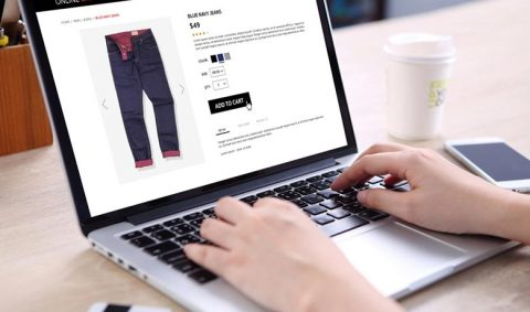 person shopping online