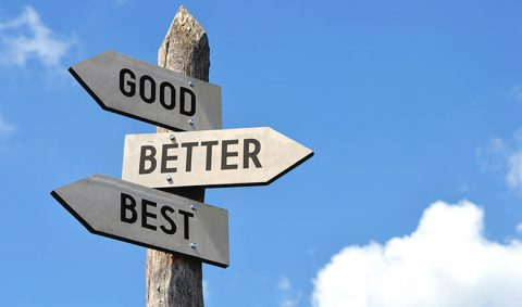 Sign saying good better best