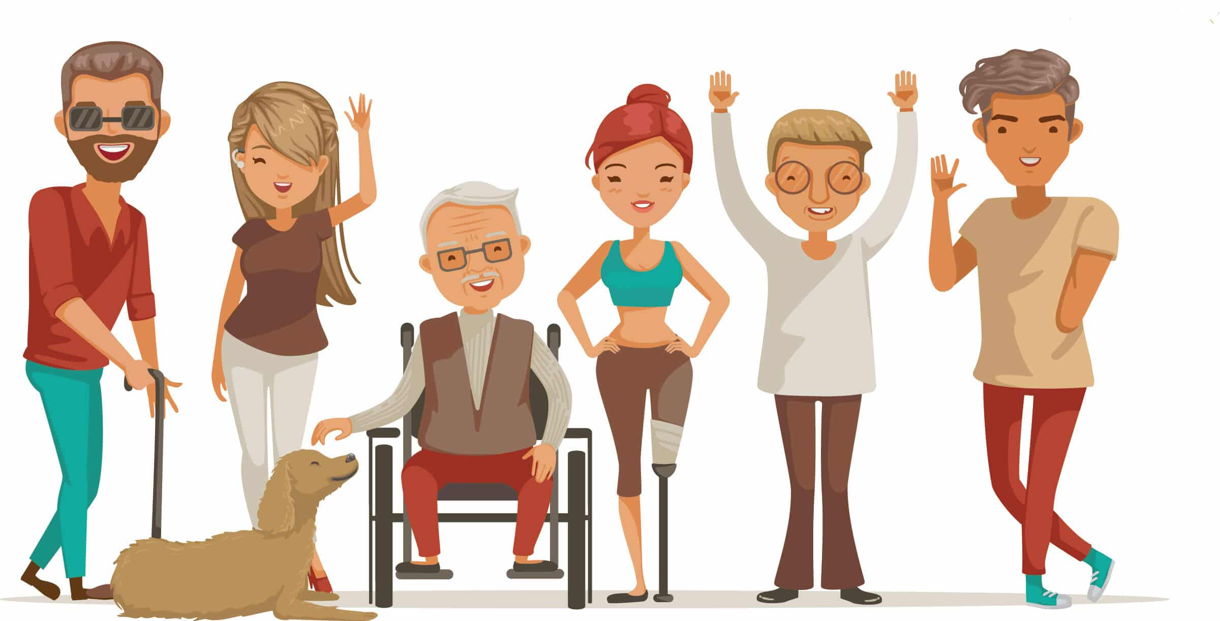 Illustration of people with disabilities
