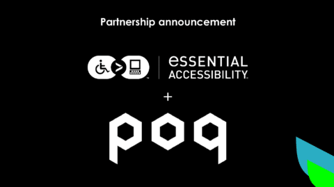 eSSENTIAL Accessibility and Poq partnership announcement